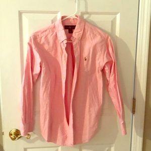 Boys Ralph Lauren Pink Dress Shirt Size youth 14